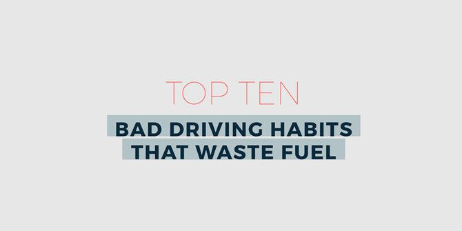 10 Quick Changes to Your Driving Habits That Will Save Fuel