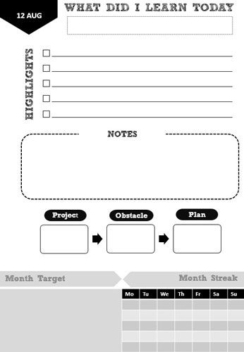 PDF template for a Learning Plan