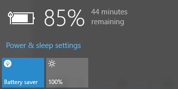 Windows 10 Battery Meter