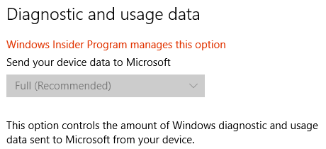 Windows 10 Diagnostic and Usage Data