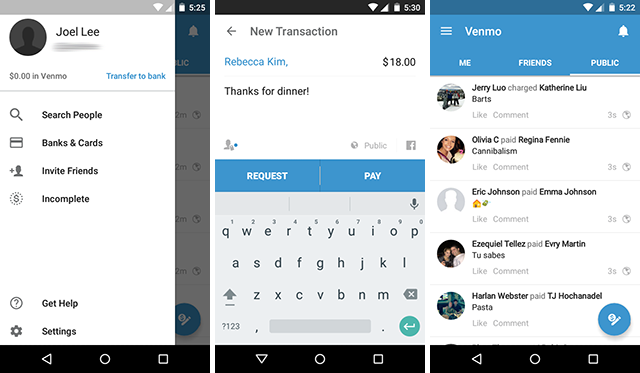 android-send-money-compare-venmo