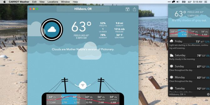 CARROT is Your Snarky Personal Weather Robot for Mac & iPhone