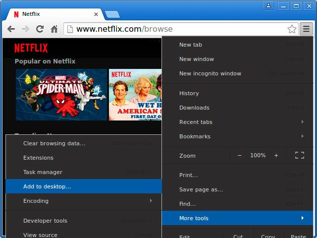 How to Watch Netflix Natively on Linux - the Easy Way chrome add to desktop netflix on linux easy way muo
