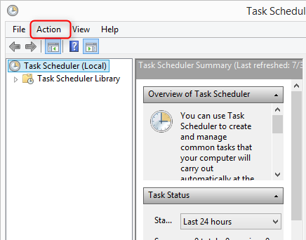 create basic tasks action