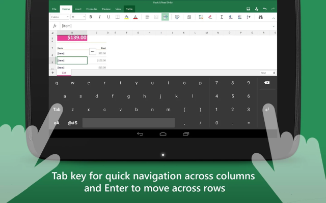 keyboard-for-excel