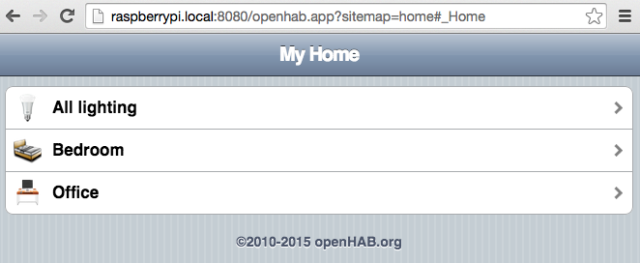 openhab first sitemap