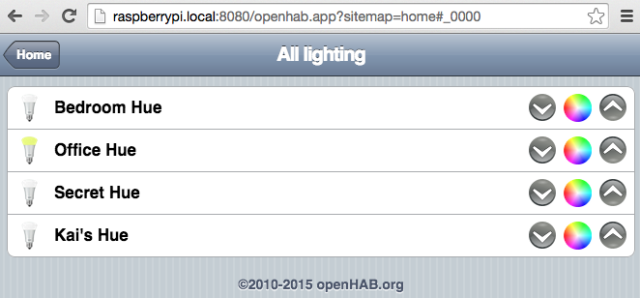 openhab lights group Hue demo
