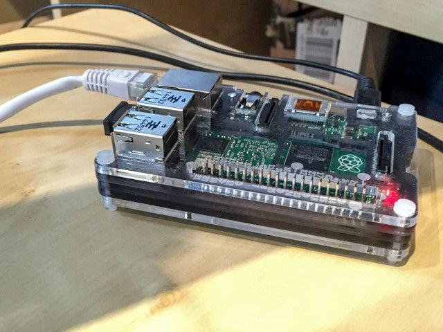 Photo of Raspberry Pi 2 being used as OpenHAB controller