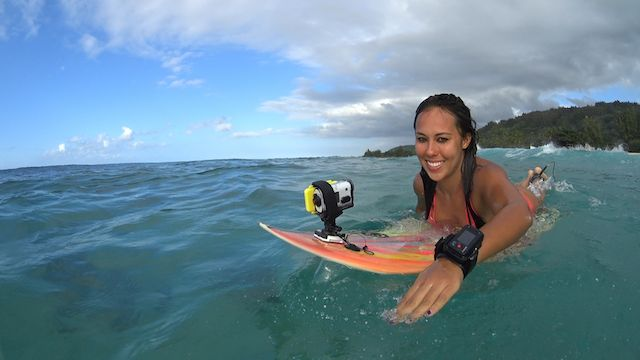 sony action cam surfboard