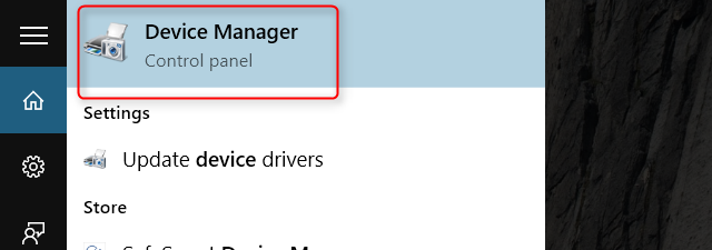 windows 10 device manager top