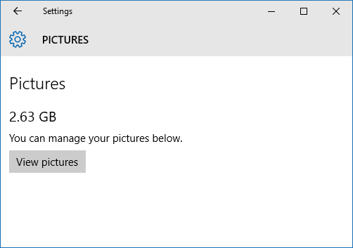 windows 10 manage pictures
