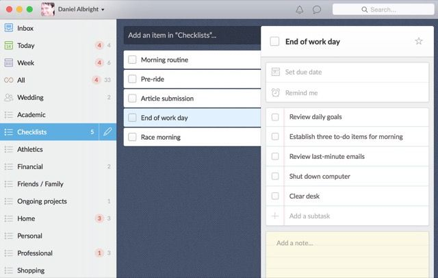 wunderlist-checklists