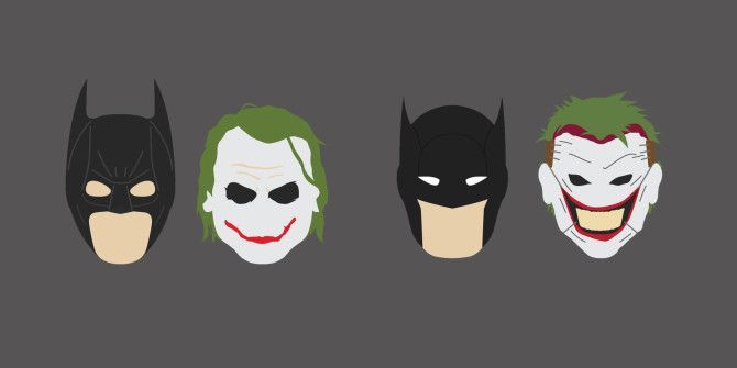 A Minimalist Look at the Evolution of Batman and Joker