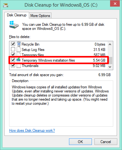 Disk Cleanup Temp Files