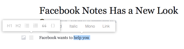 Facebook-notes-rich-text-editor