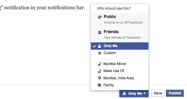 Facebook-notes-sharing-options