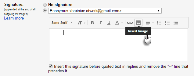 How to make cool gmail signatures right from google drive gmail signature box colourmoves