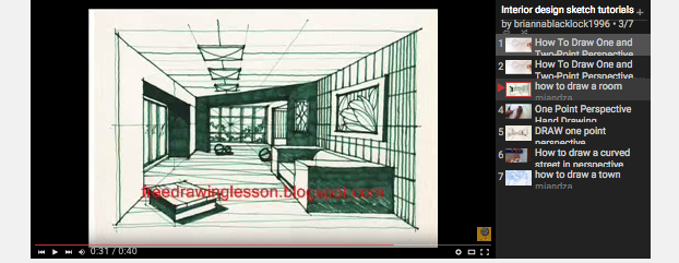 Interior Design Sketch Course. Interio6