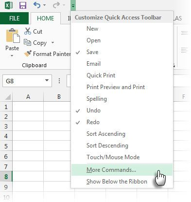 Quick Access Toolbar