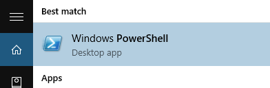 PowerShell Start menu