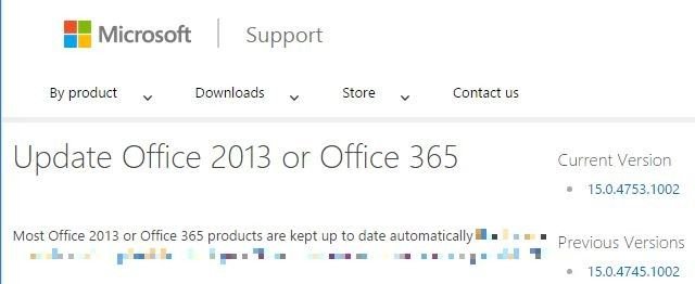 Update Office 2013