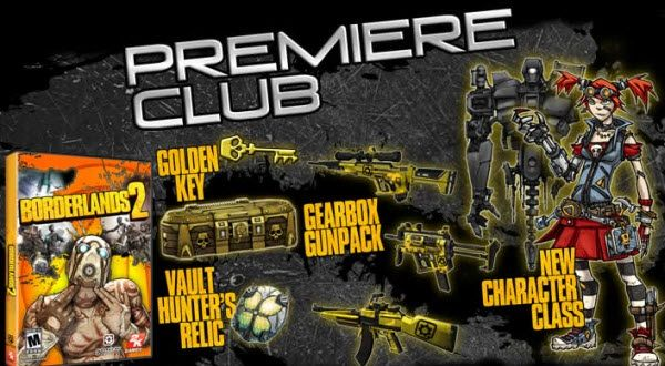 Borderlands 2 Premiere Club Pre-Order