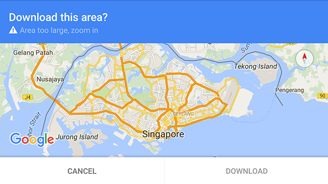 How to download offline maps in google maps for android maps offline too big gumiabroncs Images