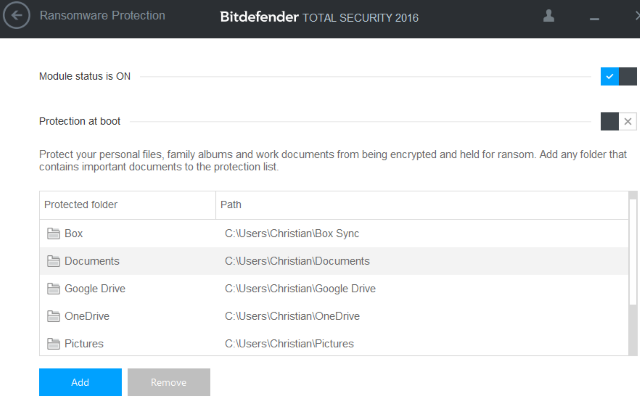 Ransomware BitDefender Total Security