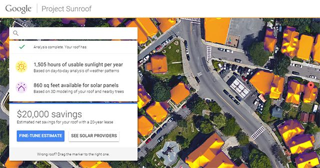 Google Project Sunroof Quick Info