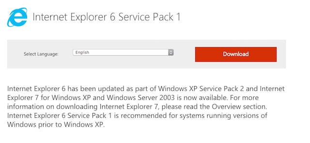 How to Download Internet Explorer 6 (If You Really Need To)