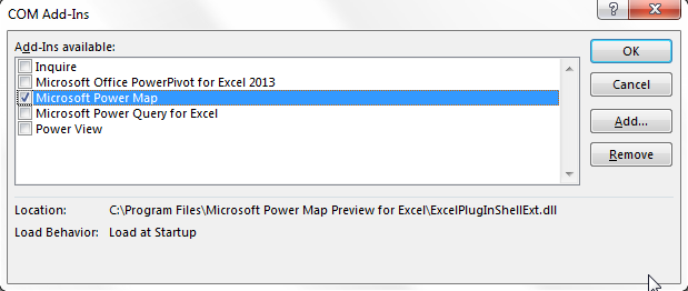 Power Map for Excel