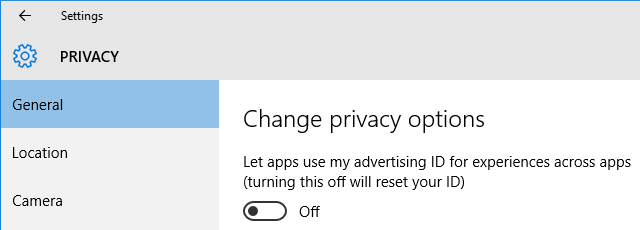 Windows 10 Privacy Personalized Ads