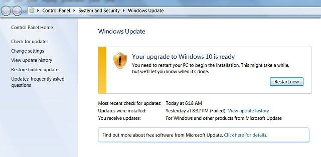 Windows 10 Upgrade Ready