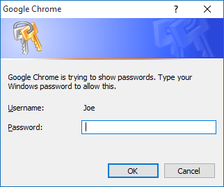 chrome show passwords