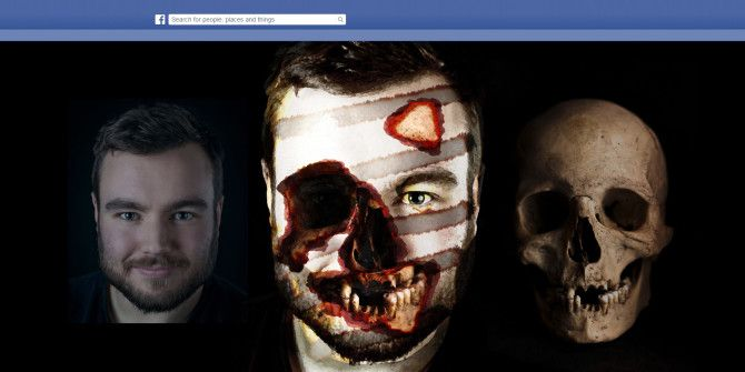 Make a Creepy Facebook Profile Picture with this Free Photoshop Template