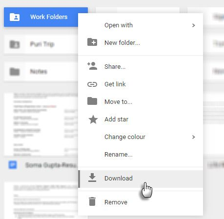 Download Google Drive Folder