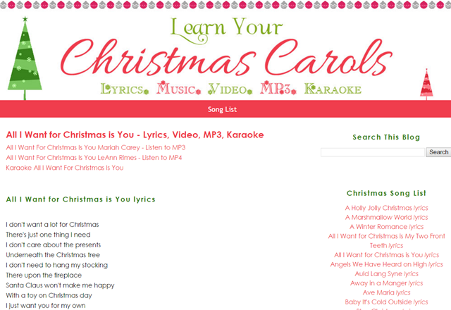 LearnChristmasCarols