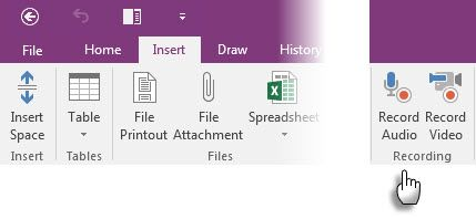 Microsoft OneNote - Audio Notes