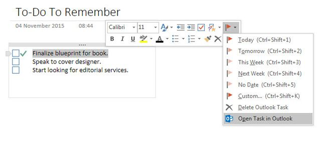 Taking Notes from Outlook