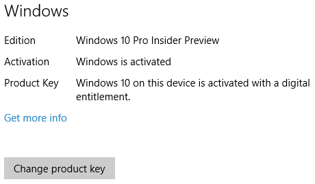 Windows 10 Activated Screen