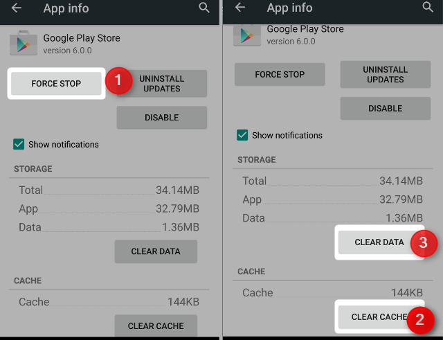 android wipe play store cache and data 2