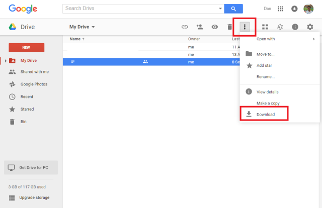 google-drive-download-file