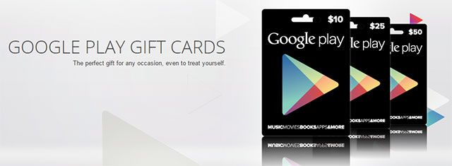 11 Gift Ideas for Android Users google play gift card