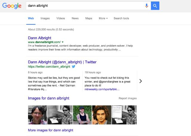 google-results-dann-albright