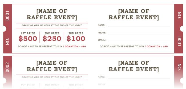 How to get a free raffle ticket template for microsoft word microsoft raffle ticket template maxwellsz