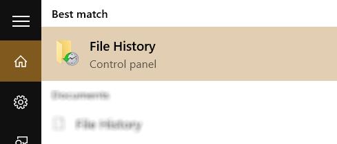 Найти опцию истории файлов в Windows 8