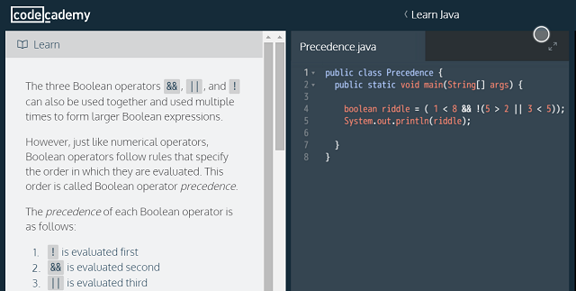 Why you shouldnt learn to code with codeacademy programmingboolean fandeluxe Choice Image