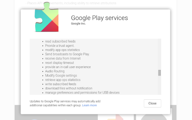 AndroidWithoutGoogle-Play-Services-Permission