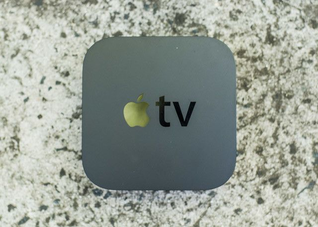 An Apple TV box