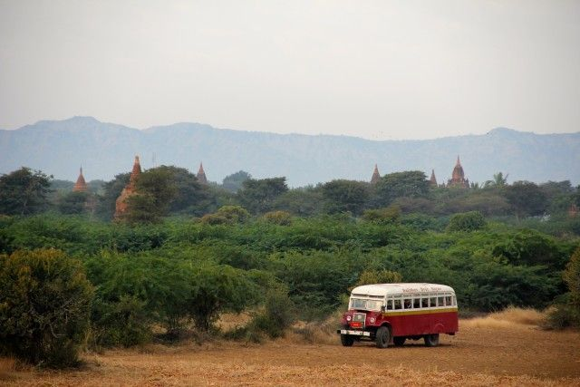 bus in Myanmar